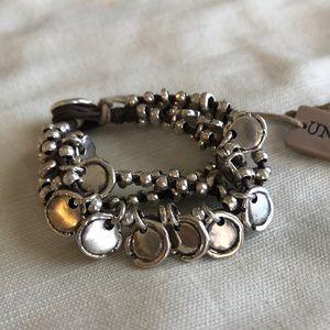 Uno de 50 NEW silver multi-strand bracelet